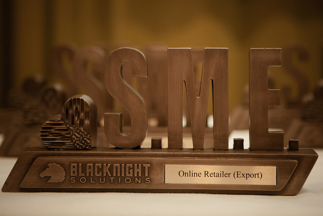 2015 Blacknight SME Awards Trophies